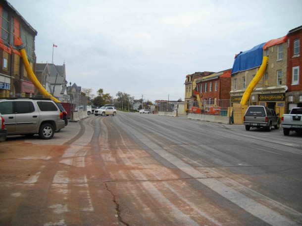 West Street in Goderich during the rebuild after the tornado. File photo.