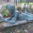 Sculpture in the Alice Munro Literary Garden in Wingham. Photo courtesy of Beth Ross.