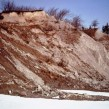Severe bank erosion below Bingham Park and bluffs through to Waste Treatment plant, March/April 1971.