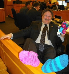 Goderich's deputy reeve, John Grace, is ready to help celebrate International Down Syndrome Day today.